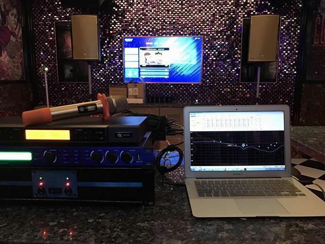 Lắp đặt hệ thống loa DK Audio, amply cho phòng karaoke