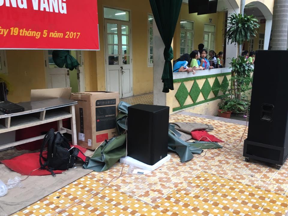 Dự án lắp đặt dàn âm thanh sân khấu cho trường THCS Thăng Long Bà Đình Hà Nội