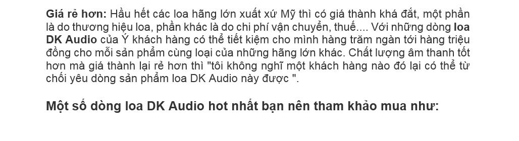 loa dk chinh hang