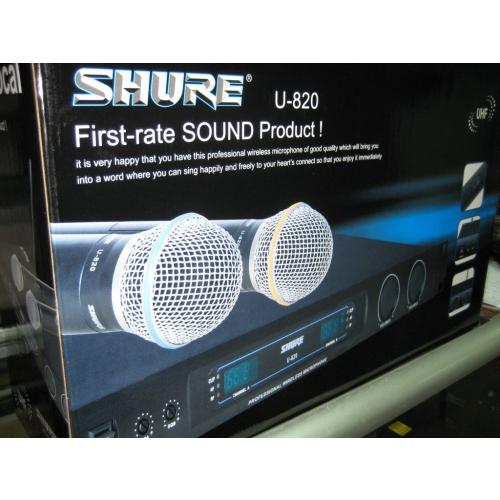 hình ảnh micro karaoke shure U820