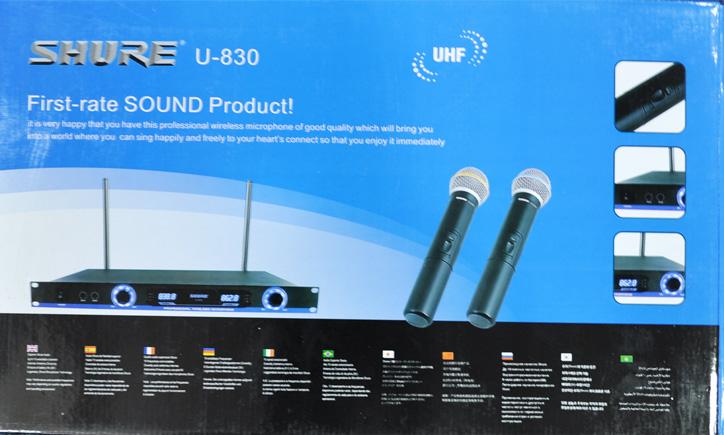 hình ảnh micro karaoke không dây U830