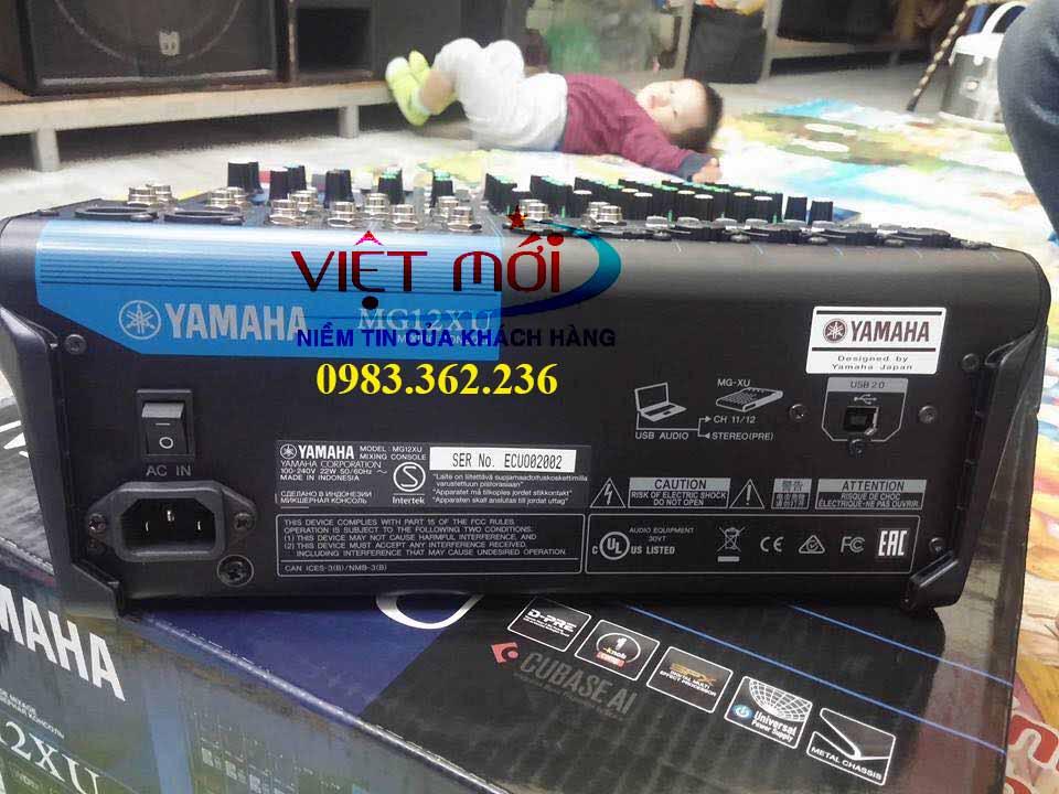 bàn mixer yamaha mg12xu chính hãng