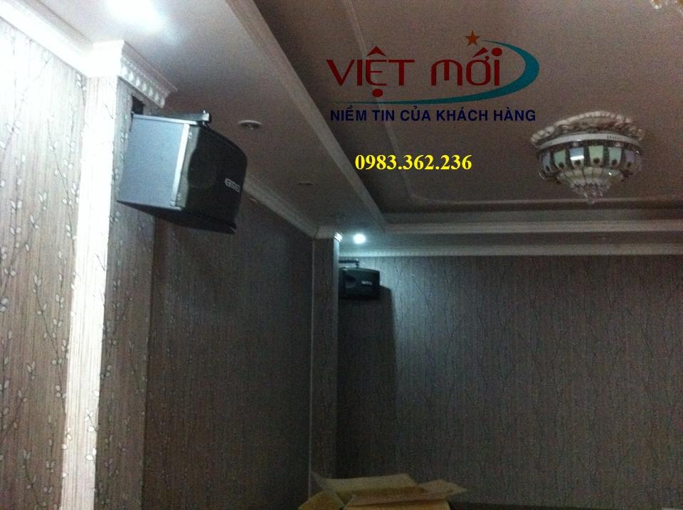 Không gian phòng karaoke rộng rãi thoải mái