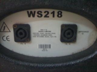 Mặt sau của chiếc sub S218