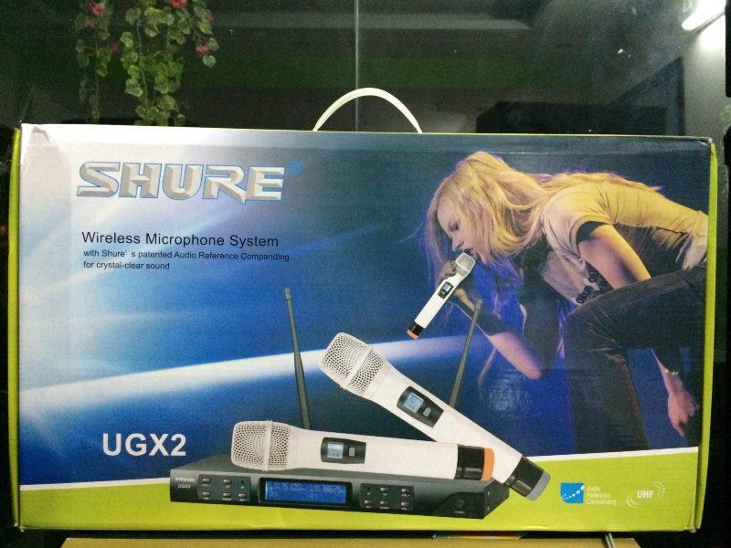 micro karaoke shure ugx2
