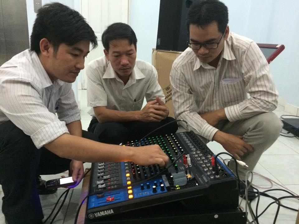 Lắp đặt mixer yamaha MG16XU 6