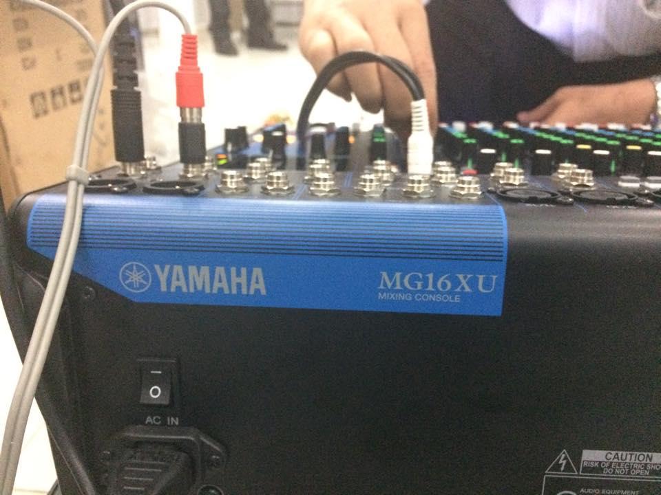 Lắp đặt mixer yamaha MG16XU 7