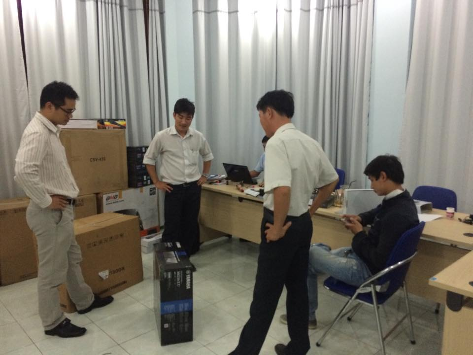 Lắp đặt mixer yamaha MG16XU 1