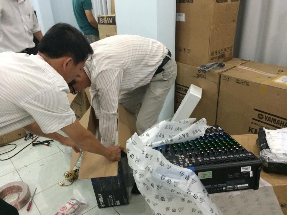 Lắp đặt mixer yamaha MG16XU 2