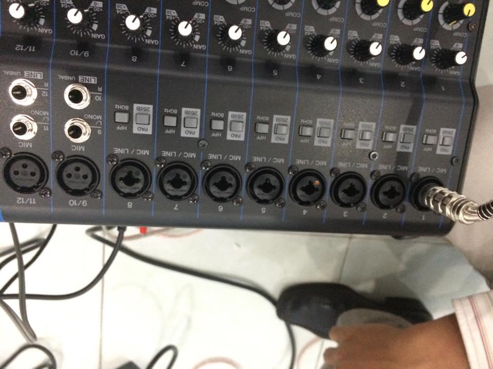 Lắp đặt mixer yamaha MG16XU 3