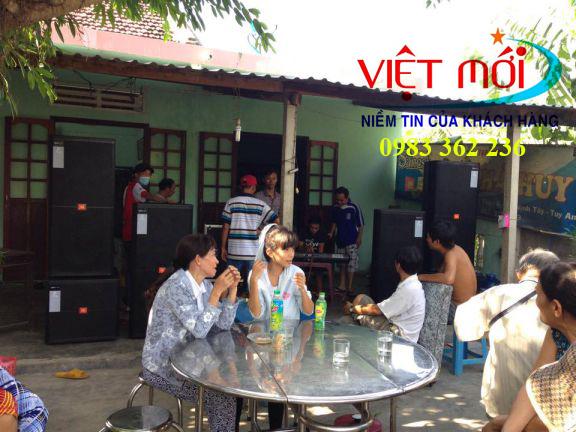 Dự án âm thanh đám cưới cho anh Phương tại Phú Yên