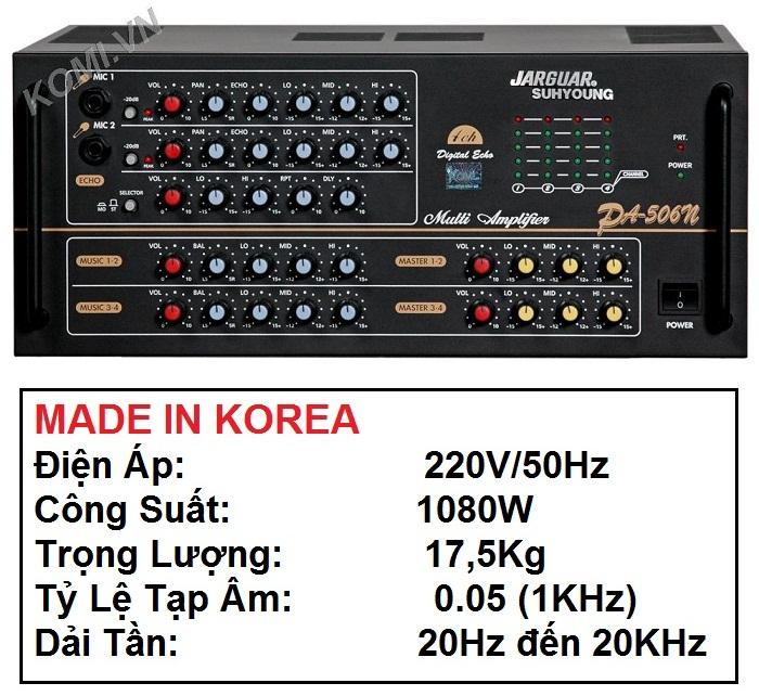 Amply Jarguar PA 506N chính hãng Hàn Quốc