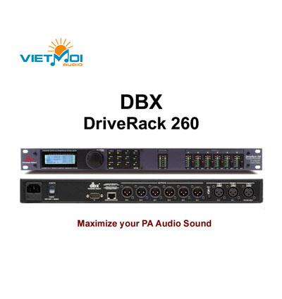 PA 260 DBX Driverack 260 Cos số dbx vang số dbx 260 chỉnh âm thanh
