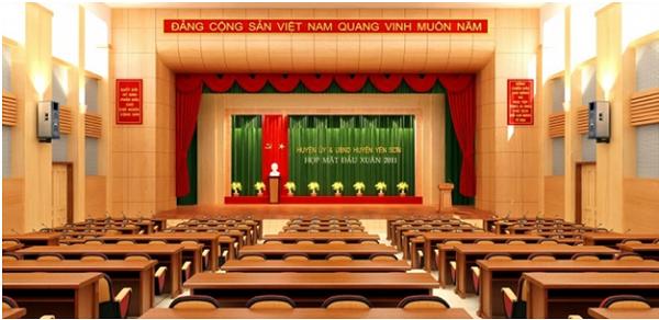 Dự án lắp đặt hệ thống âm thanh hội trường tỉnh ủy Hà Nam