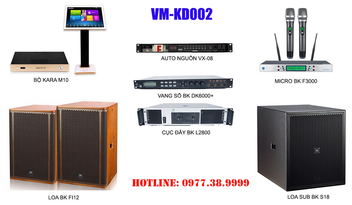 Dàn karaoke kinh doanh chuyên nghiệp VM-KD02