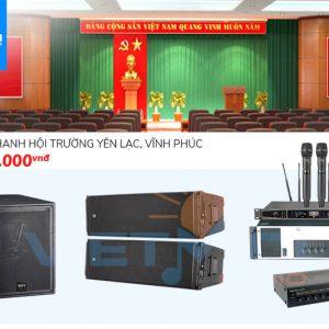 Dàn âm thanh hội trường Yên Lạc, Vĩnh Phúc
