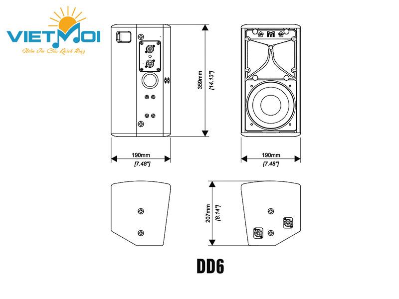 Chi tiết cấu tạo của loa Martin DD6