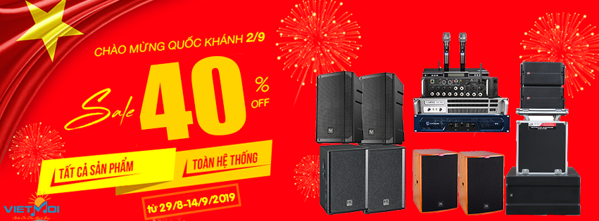 Chương trình giảm giá dịp quốc khánh 2/9 Việt Mới Audio