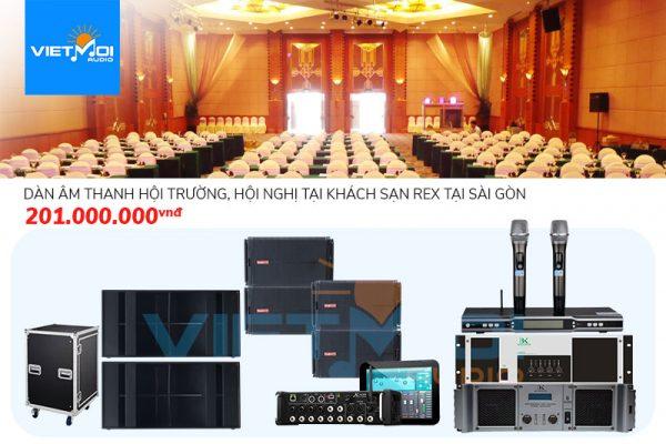 Dàn âm thanh hội trường, hội nghị tại khách sạn Rex tại Sài Gòn