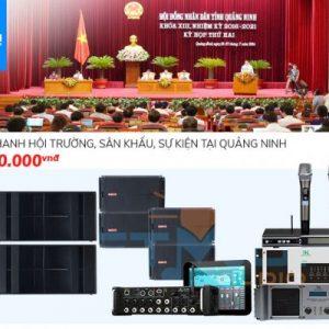 Dàn âm thanh hội trường, sân khấu, sự kiện tại Quảng Ninh