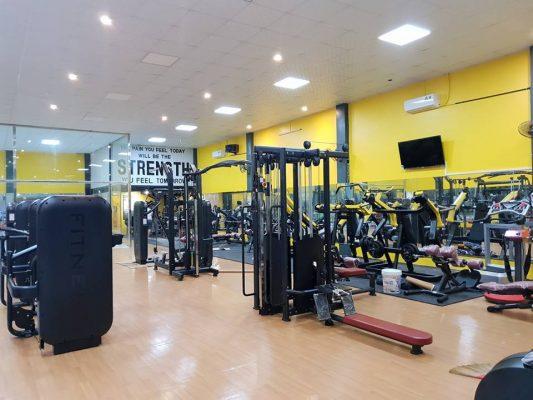 Phòng tập Gym khi lắp đặt hoàn thiện