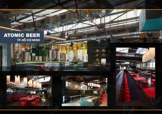 Dự án lắp đặt hệ thống âm thanh quán bia Atomic tại TP Hồ Chí Minh