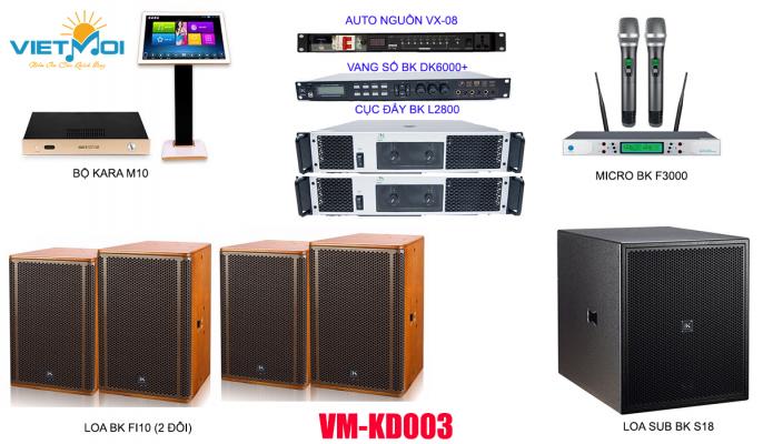 Dàn karaoke kinh doanh VM KD03
