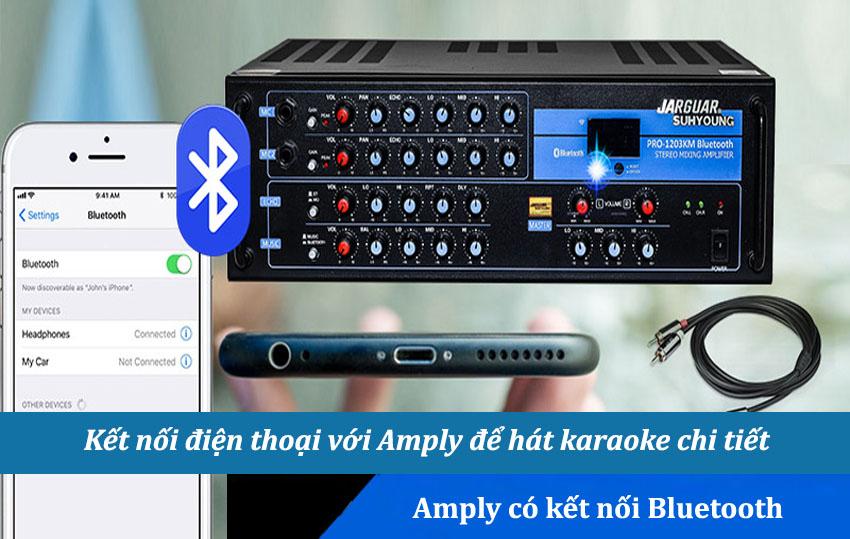 Kết nối điện thoại với amply để hát karaoke có nên không?