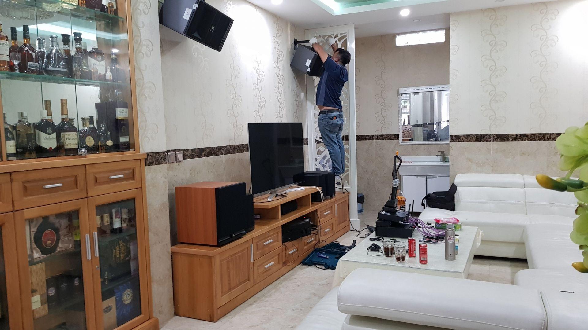Dự án lắp đặt dàn karaoke gia đình cho anh chị Hà Đạt ở Hải Phòng