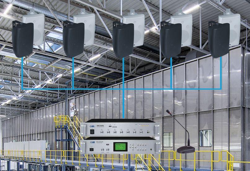 Lắp đặt dàn âm thanh công xưởng cho nhà máy tại Bình Thuận