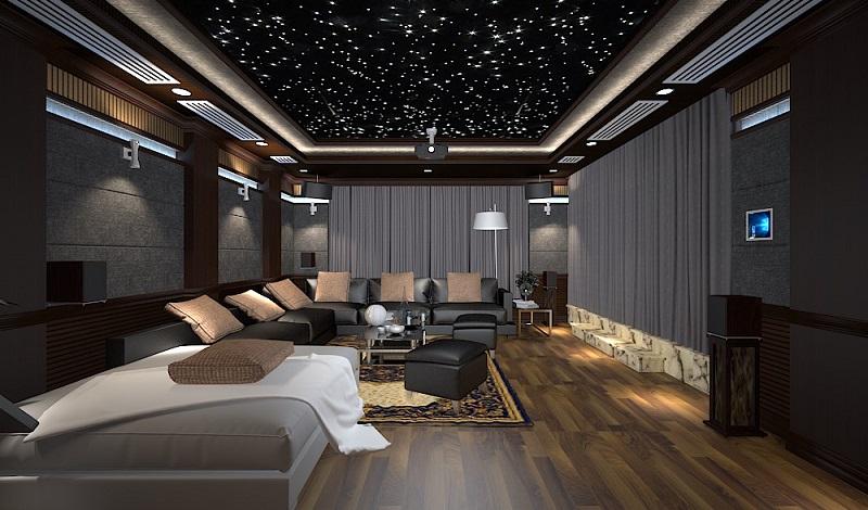 Dự án lắp đặt âm thanh xem phim cho biệt thự Gia Lâm, Hà Nội