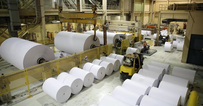 âm thanh nhà xưởng sản xuất giấy