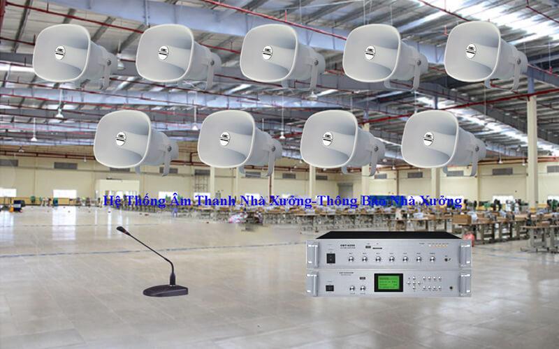 Dự án lắp đặt hệ thống âm thanh nhà xưởng tại khu chế biến thực phẩm An Phú