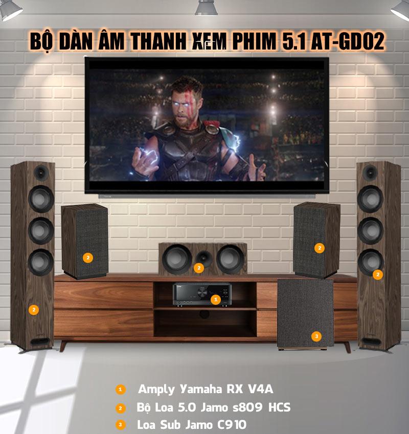 Dàn âm thanh xem phim 5.1 AT-GD02