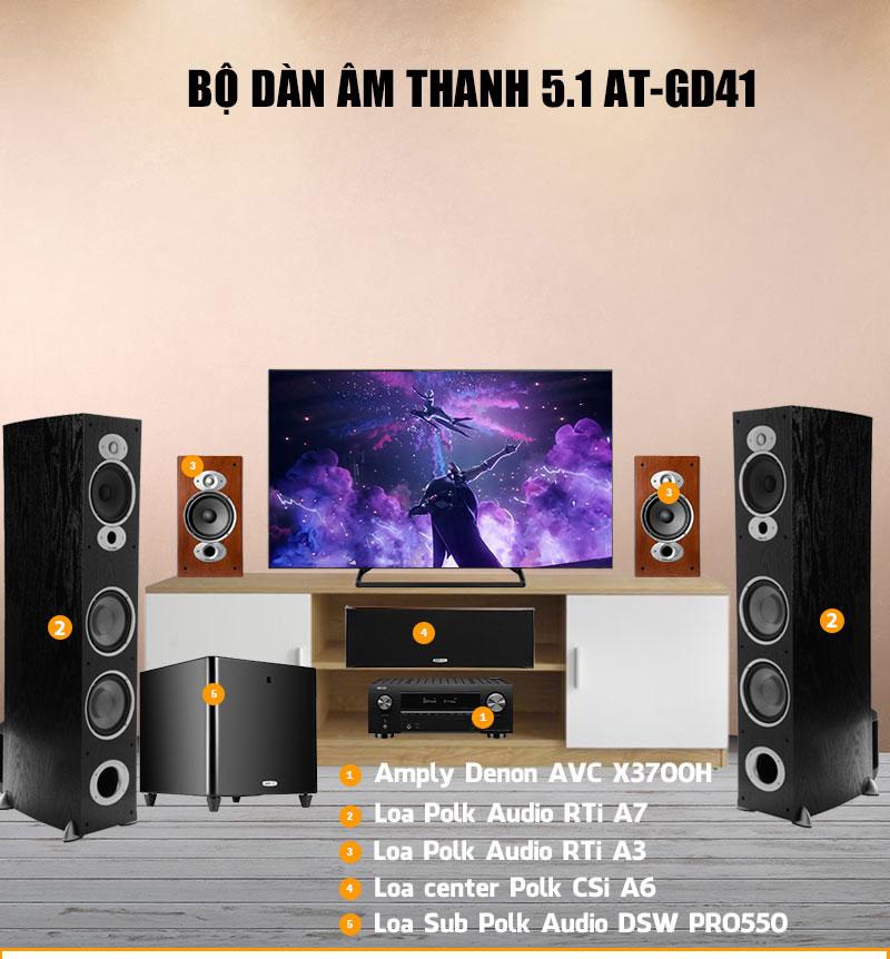 Dàn âm thanh xem phim 5.1 AT-GD41