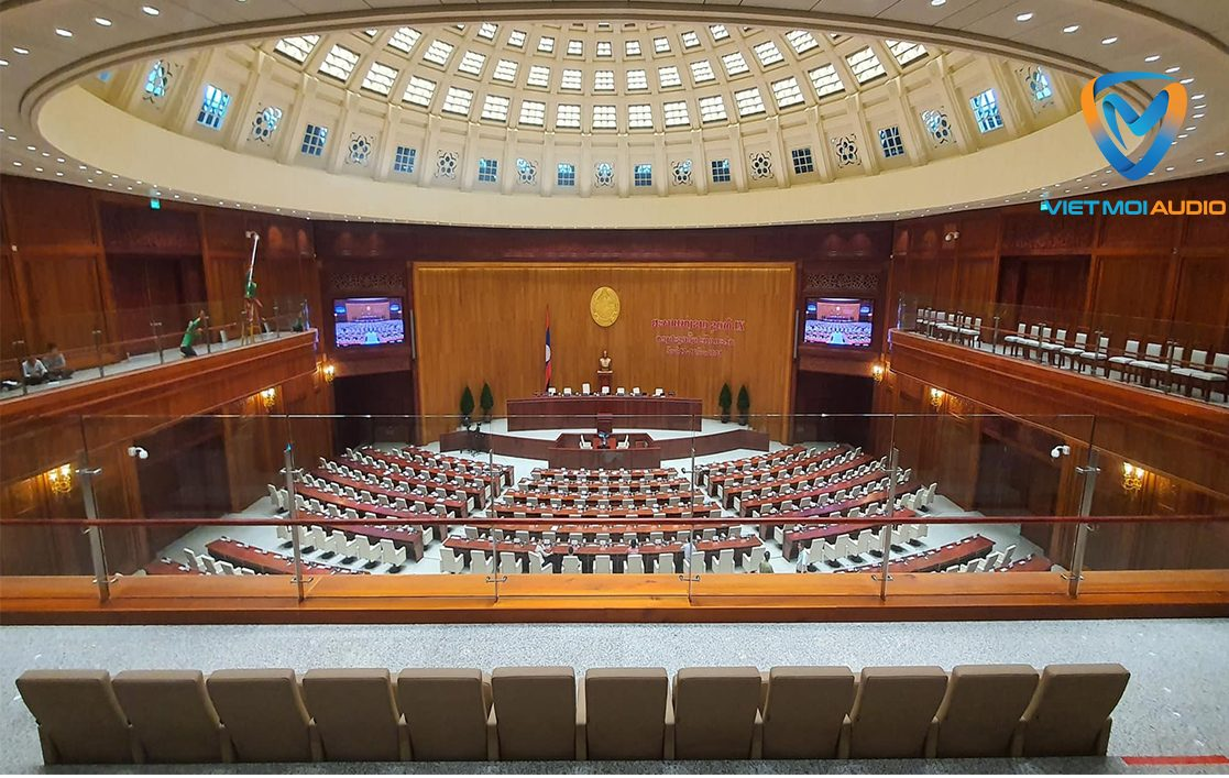 Việt Mới Audio thiết kế lắp đặt dàn âm thanh hội trường quốc hội Lào