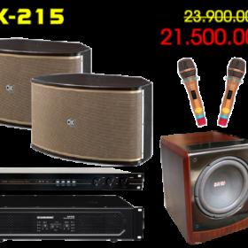 Bộ dàn karaoke gia đình DK-215 CAO CẤP NHẤT   karaokegiadinhdk
