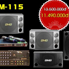 Bộ dàn karaoke gia đình VM-115   Loa BMB Malaysia chất lượng cao