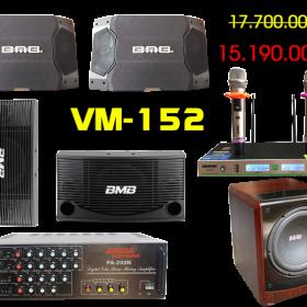 Bộ dàn karaoke gia đình VM-152 – Loa sub b&w 604i chất lượng cao
