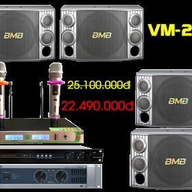Bộ dàn karaoke VM-225 chất lượng cao của Việt Mới Audio