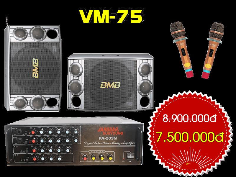 Bộ dàn karaoke gia đình VM-75