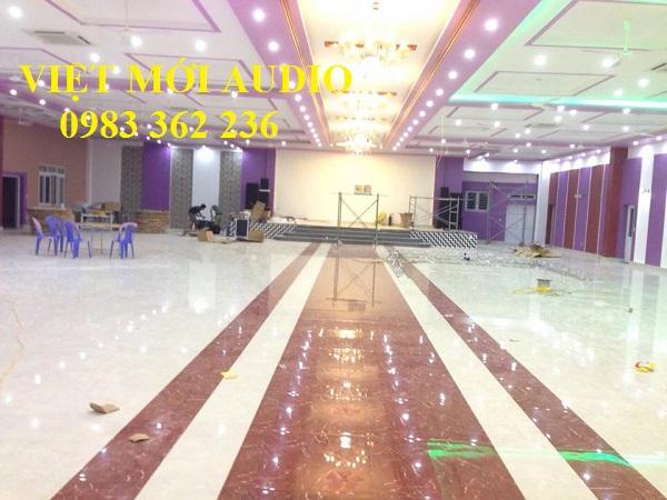 Lắp đặt âm thanh nhà hàng tiệc cưới Minh Ngoan
