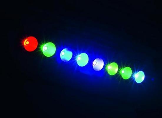 Hình ảnh đèn LED tricolor 8*3W PL-28