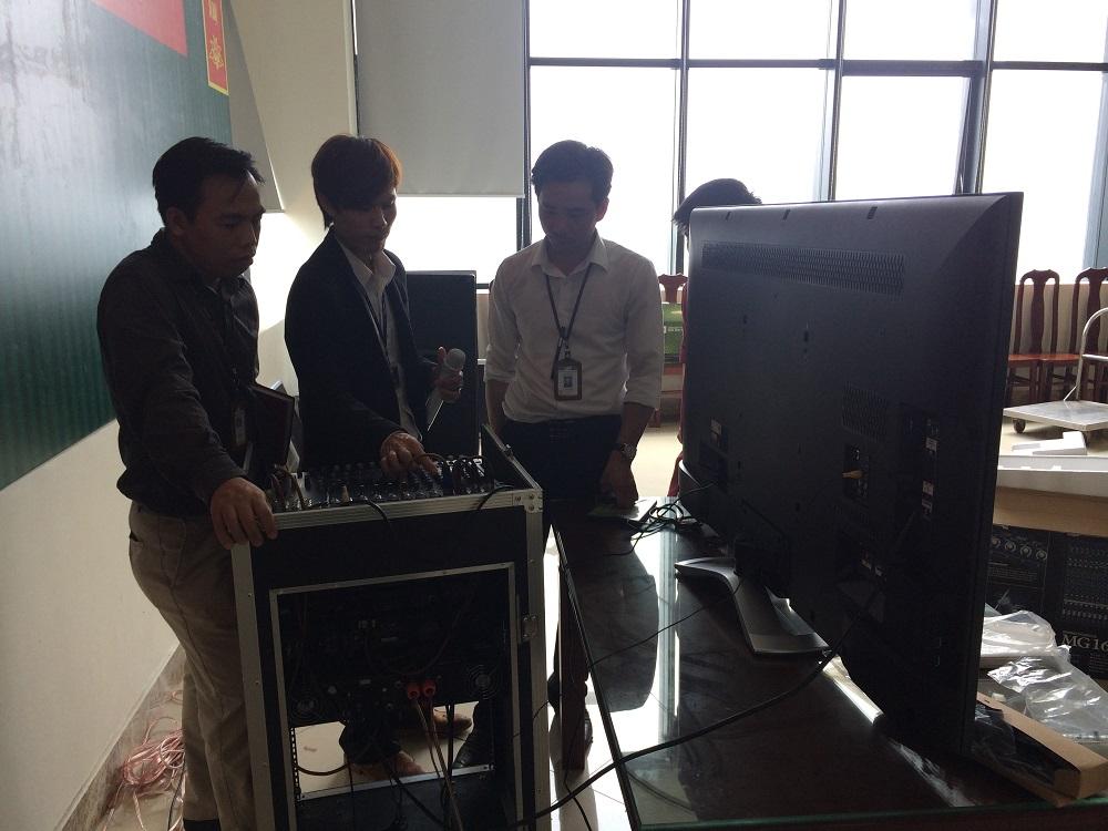Lắp đặt hệ thống âm thanh cho hội trường tại huyện Phổ Yên, Thái Nguyên