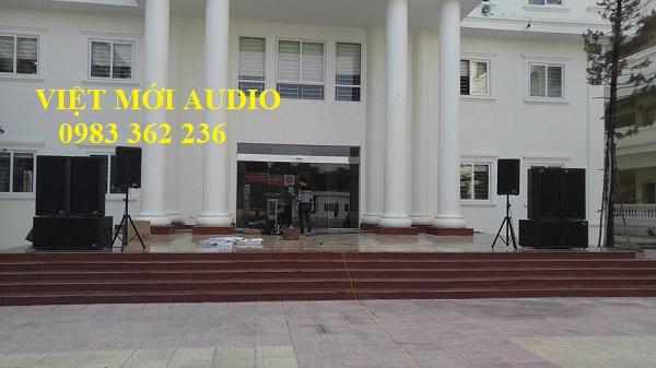 Dự án cung cấp dàn âm thanh sân khấu cho trường THPT Kiều Mai – Hà Nội