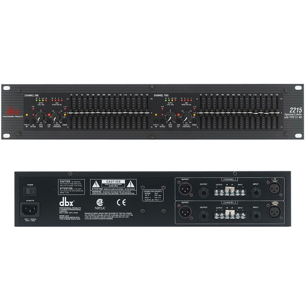 Thiết bị xử xử lý tín hiệu âm thanh Equalizer DBX 2215