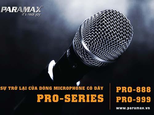Micro có dây Paramax thế hệ mới