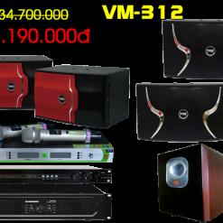 Bộ dàn karaoke VM 312