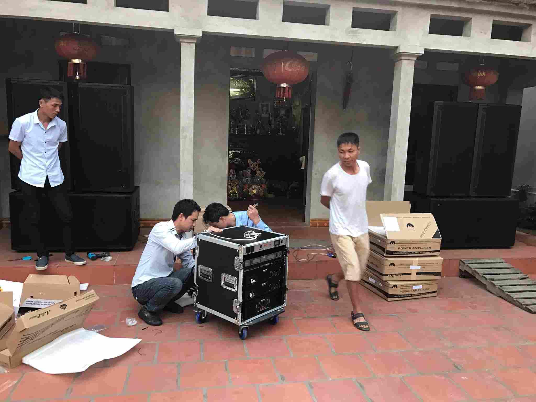 Dự án lắp đặt dàn âm thanh đám cưới tại Bắc Ninh