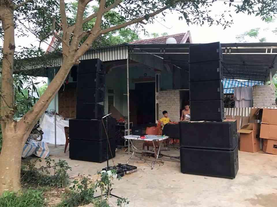 Dự án lắp đặt dàn loa array đám cưới tại Nghệ An